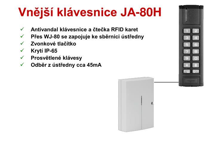 Vnější klávesnice JA-80H