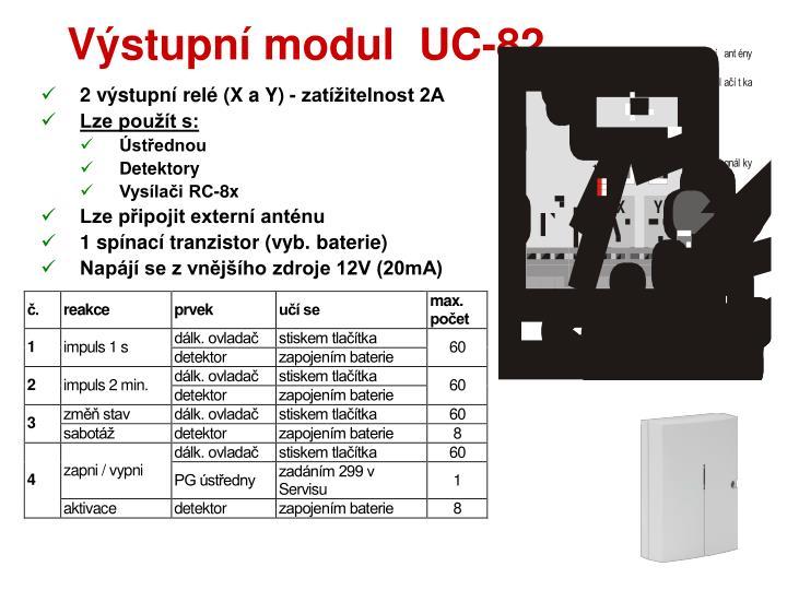Výstupní modul  UC-82