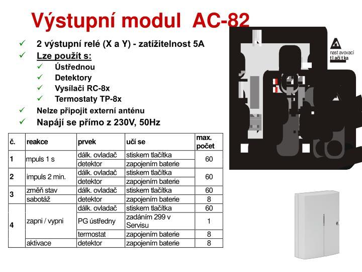 Výstupní modul  AC-82