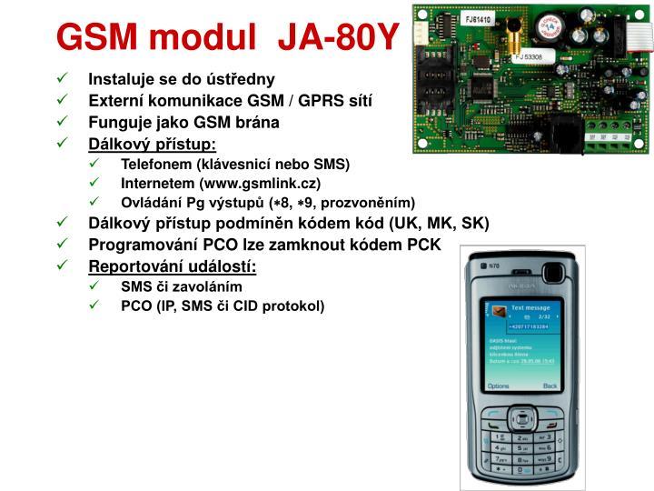 GSM modul  JA-80Y