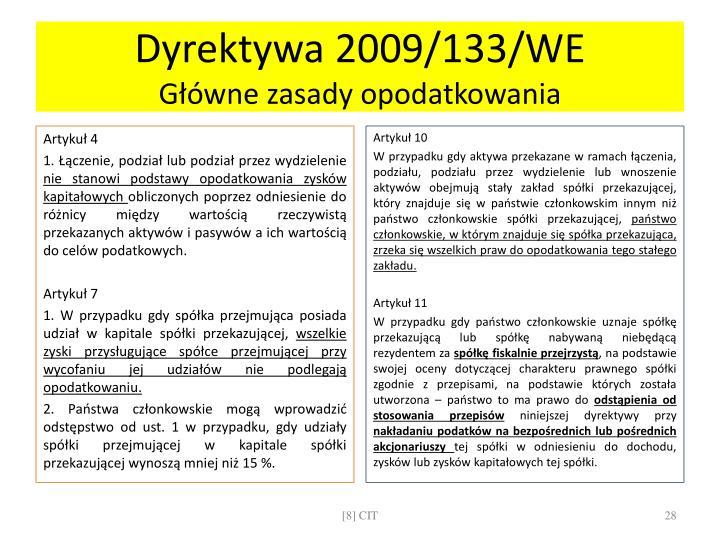 Dyrektywa 2009/133/WE