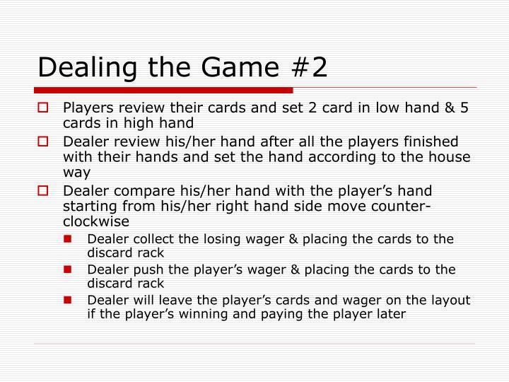 Dealing the Game #2