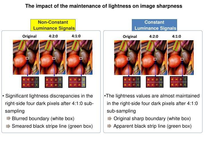 The impact of the maintenance of lightness on image sharpness