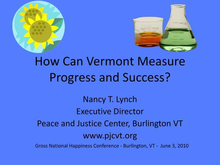 how can vermont measure progress and success n.