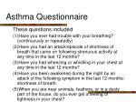asthma questionnaire1