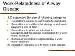 work relatedness of airway disease