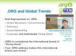 org and global trends