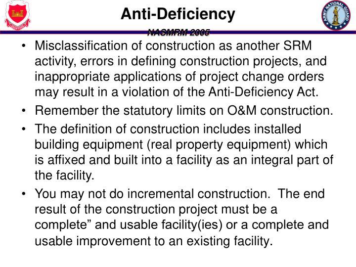 Anti-Deficiency