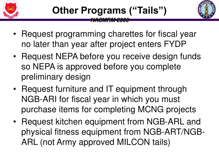 """Other Programs (""""Tails"""")"""
