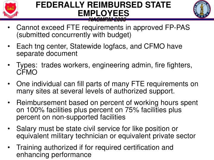 FEDERALLY REIMBURSED STATE EMPLOYEES
