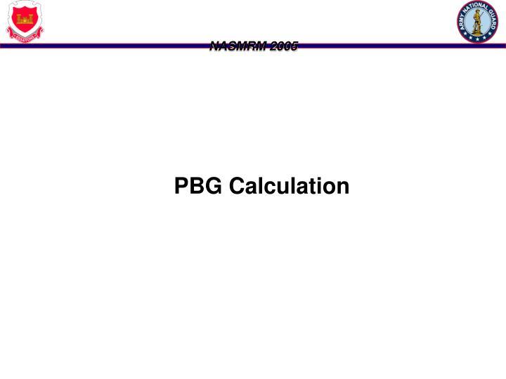 PBG Calculation