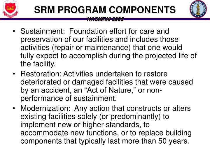 SRM PROGRAM COMPONENTS