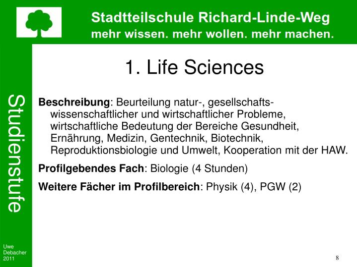 1. Life Sciences