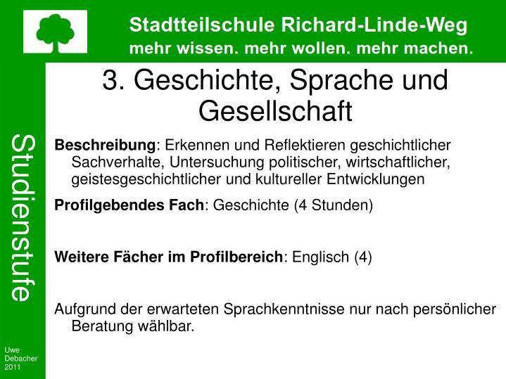 3. Geschichte, Sprache und Gesellschaft