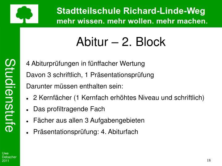 Abitur – 2. Block