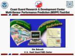 coast guard research development center multi sensor performance prediction mspp tool set