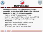 mspp wish list