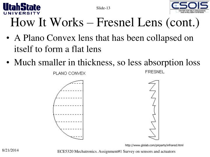 How It Works – Fresnel Lens (cont.)