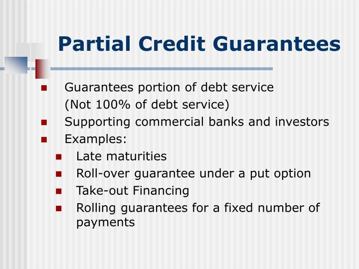 Partial Credit Guarantees