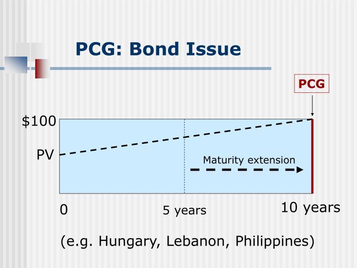 PCG: Bond Issue