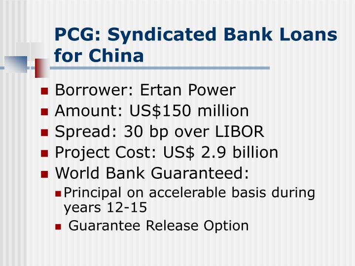 PCG: Syndicated Bank Loans for China