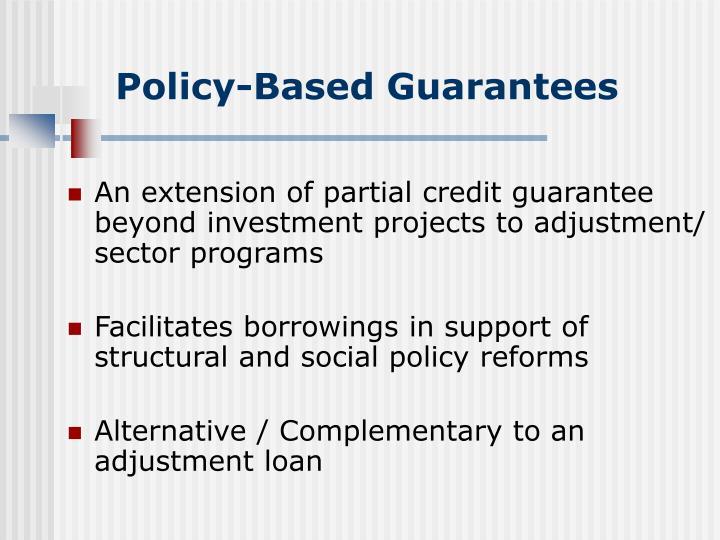 Policy-Based Guarantees