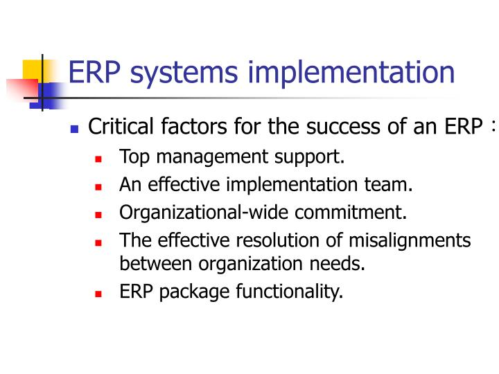 ERP systems implementation