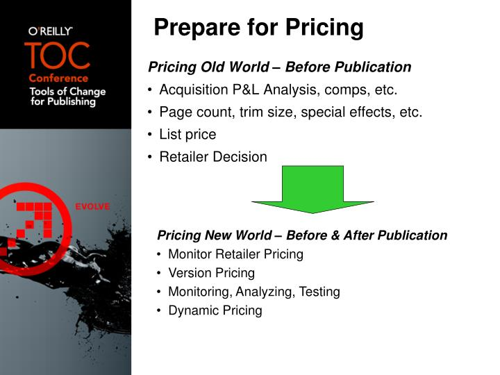Prepare for Pricing