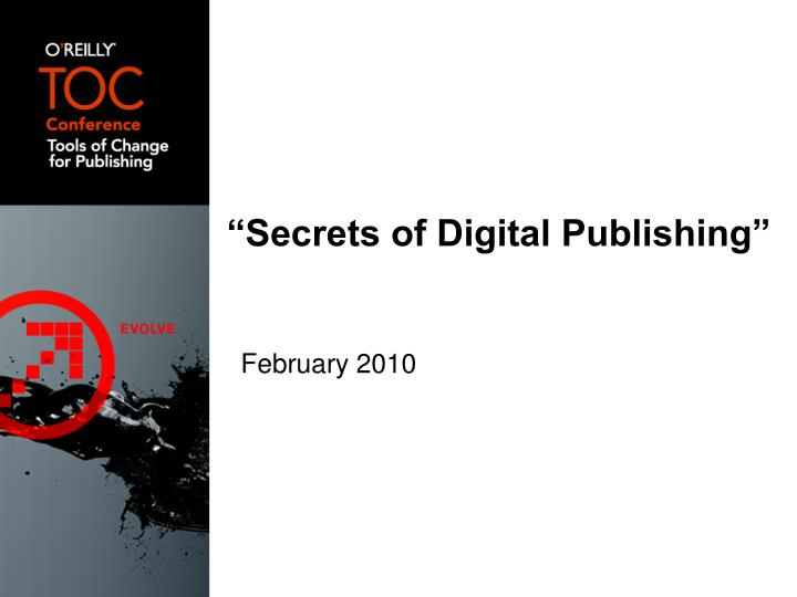 """Secrets of Digital Publishing"""