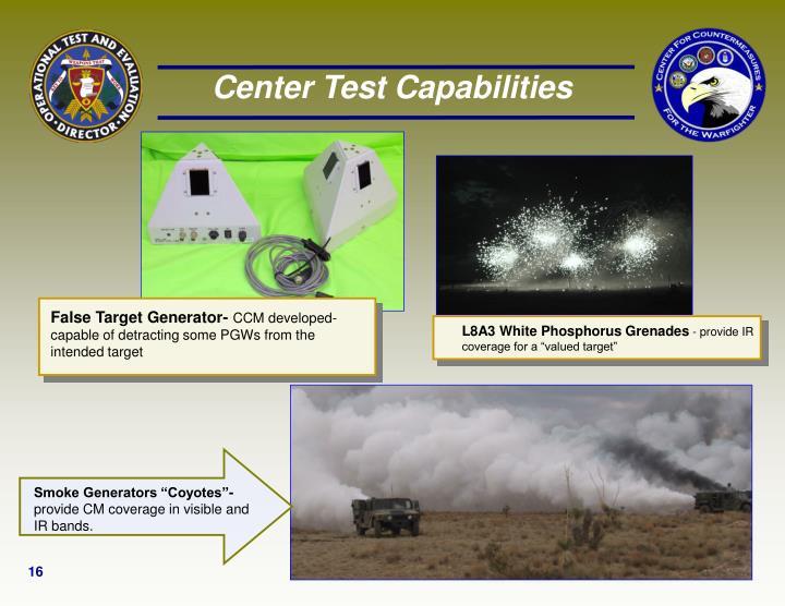 Center Test Capabilities