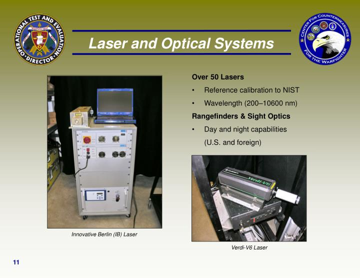 Laser and Optical Systems