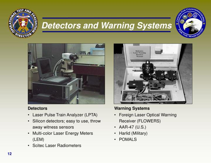 Detectors and Warning Systems