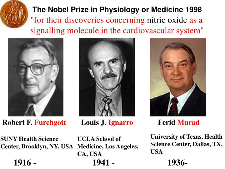 The Nobel Prize in Physiology or Medicine 1998