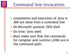 command line invocation