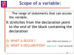 scope of a variable