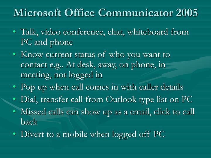 Microsoft Office Communicator 2005