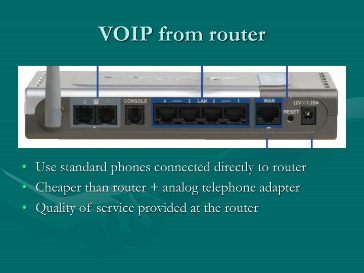 VOIP from router