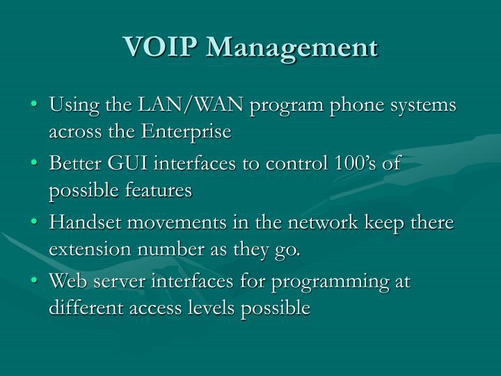 VOIP Management