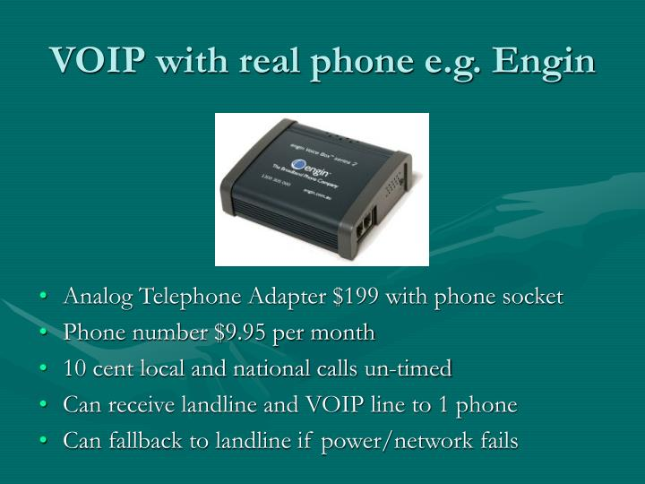 VOIP with real phone e.g. Engin