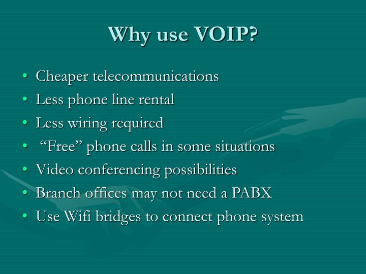 Why use voip