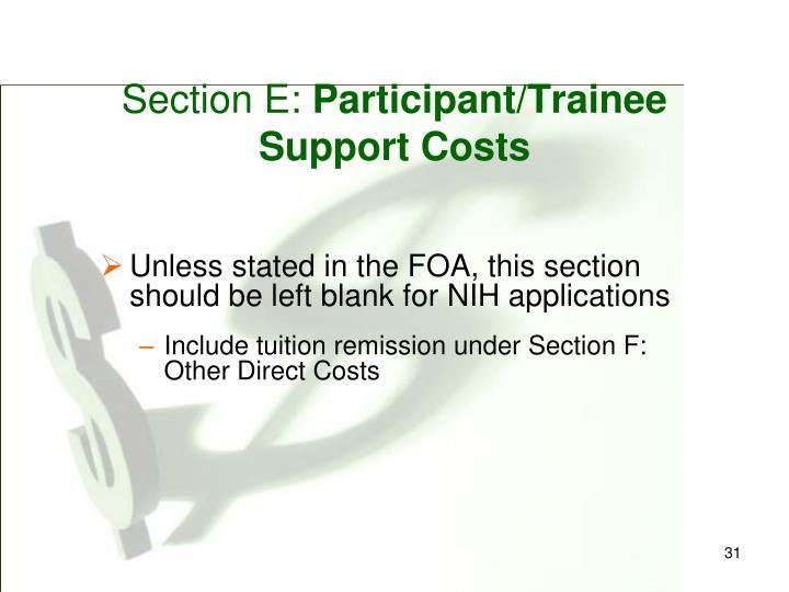 Section E:
