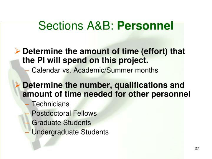 Sections A&B: