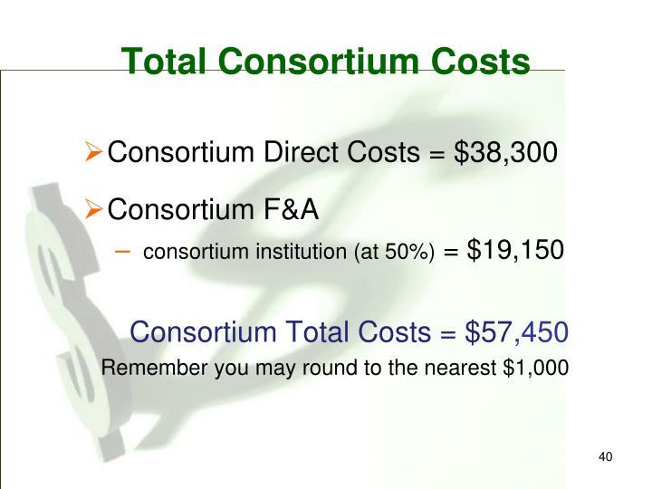 Total Consortium Costs