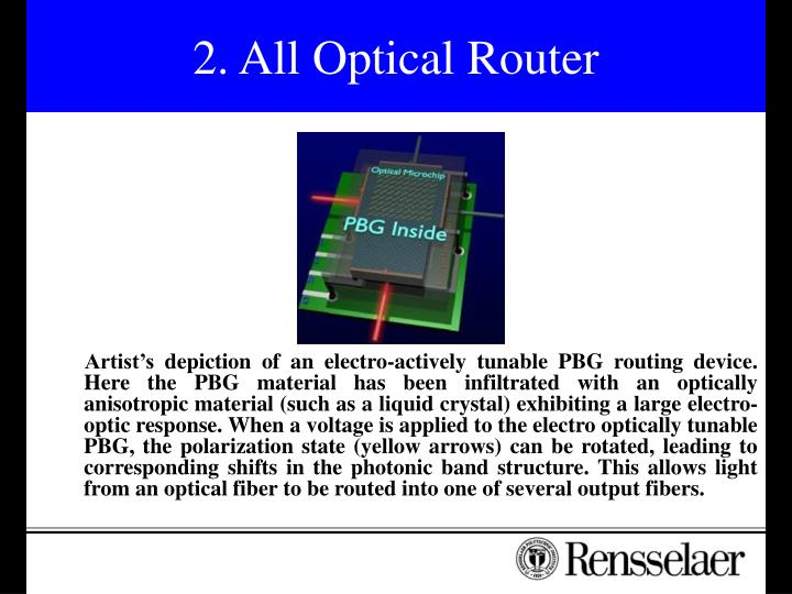 2. All Optical Router