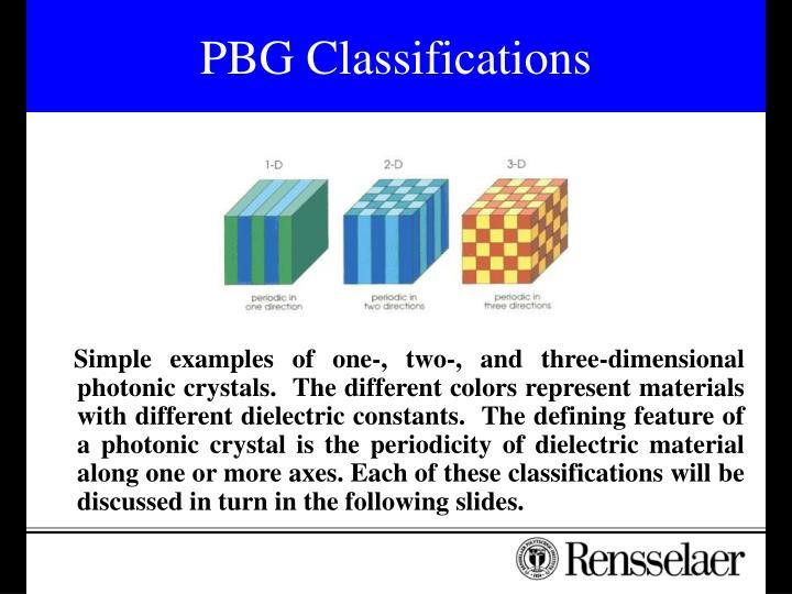 PBG Classifications
