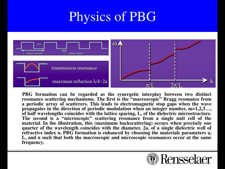Physics of PBG
