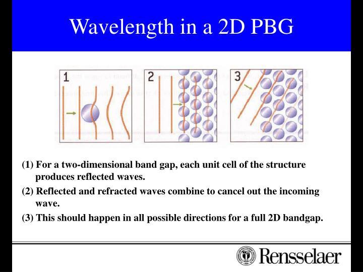 Wavelength in a 2D PBG