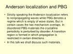 anderson localization and pbg