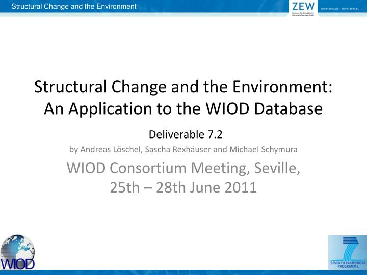 Wiod consortium meeting seville 25th 28th june 2011