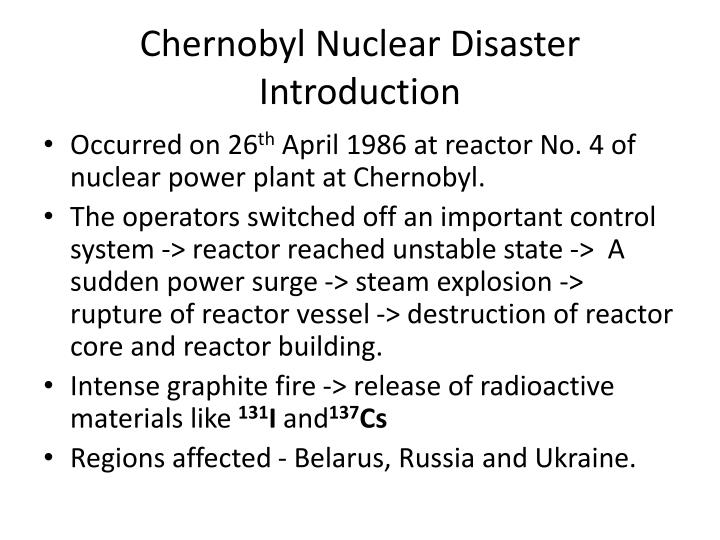 Chernobyl Nuclear Disaster Introduction